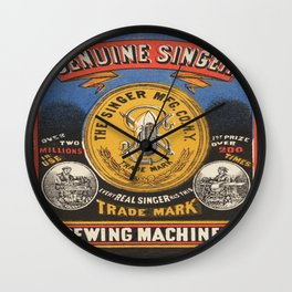 Vintage poster - Singer Sewing Machine Wall Clock