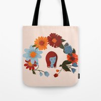 redhead Tote Bags featuring Redhead by olivia mew