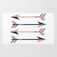 arrows Area & Throw Rugs featuring arrows by Love Ashley Designs