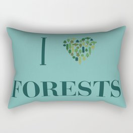 I heart Forests Rectangular Pillow