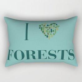 I heart Forests Rectangular Pillow