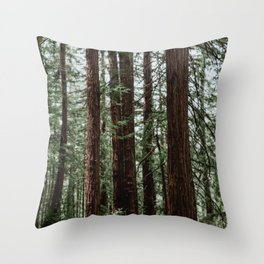 the woods. Throw Pillow
