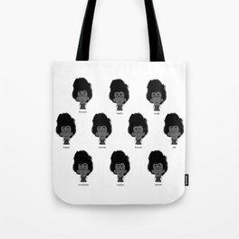 Secretary-facial expressions Tote Bag