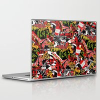 bands Laptop & iPad Skins featuring BANDS by DIVIDUS