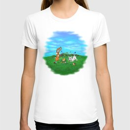 Easter - Spring-awakening - Puppy Capo with Rabbit and Chick T-shirt