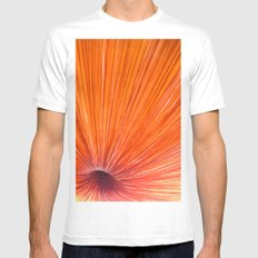 Orange and Red MEDIUM Mens Fitted Tee White