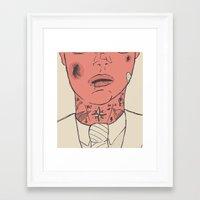 gentleman Framed Art Prints featuring Gentleman by The Bad Artist