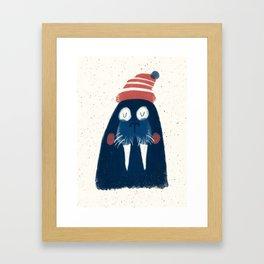 Wally The Walrus Framed Art Print