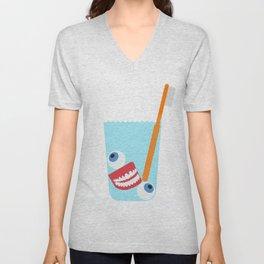 Tooth Brush Unisex V-Neck
