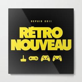 Rétro Nouveau (Jaune) Metal Print