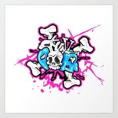 Skull Pops Art Print