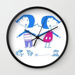 Emma and Luvi Wall Clock