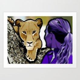 The Lesbian & the Lioness Art Print