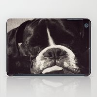 boxer iPad Cases featuring Boxer by tangledshoebox