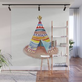 Tepee watercolor Wall Mural
