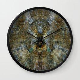 Blues Glittering Browns Wall Clock