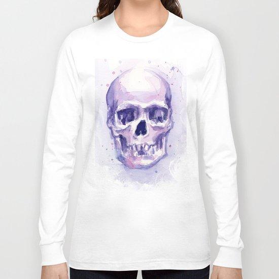 Skull Watercolor Skulls Long Sleeve T-shirt