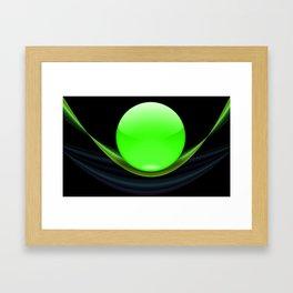 Green Ball Framed Art Print
