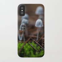 mushrooms iPhone & iPod Cases featuring Mushrooms by Michelle McConnell