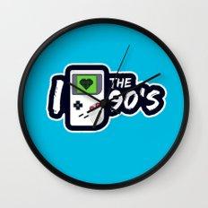I Heart the 90's Wall Clock