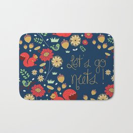Let's go nuts! - Surface Pattern Design - ByBeck Bath Mat