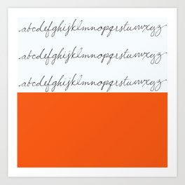 Alphabet-Orange Art Print