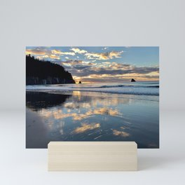 Sunset reflection Mini Art Print