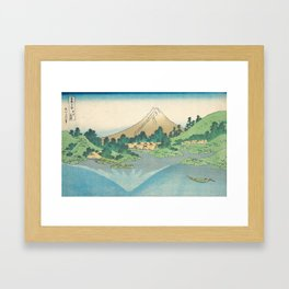 Katsushika Hokusai - Mt Fuji Reflection Framed Art Print