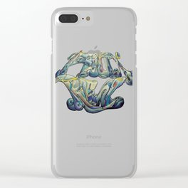 Faux Real - This is Not Typography Clear iPhone Case