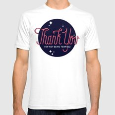 T.Y.F.N.B.T. SMALL White Mens Fitted Tee