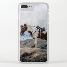 The Horse and the Volcano Clear iPhone Case