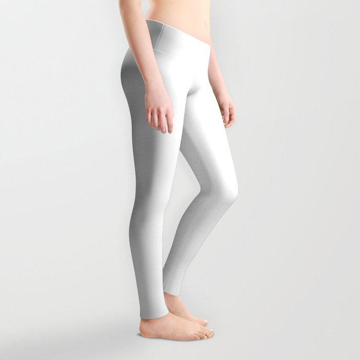 Minimal White - Solid Color Collection Leggings