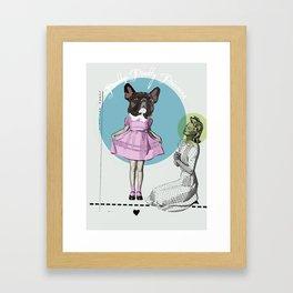Pretty Chauncey Princess - French Bulldog Framed Art Print