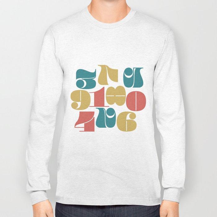 Numerals Long Sleeve T-shirt