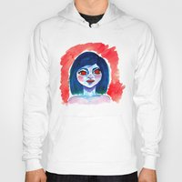creepy Hoodies featuring Creepy by Alex Dehoff