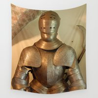 knight Wall Tapestries featuring Knight by SlothgirlArt