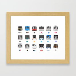 Subway Icons Framed Art Print