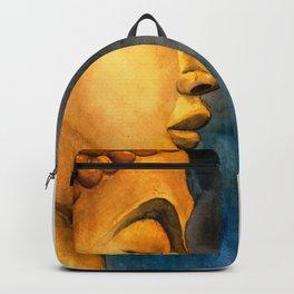 Golden Buddha watercolor illustration Backpack