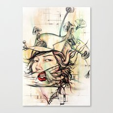 crossword anxiety Canvas Print