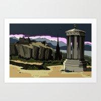 Edinburgh in a different light Art Print