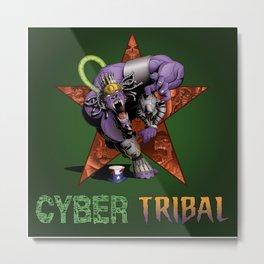 Cyber Tribal Metal Print
