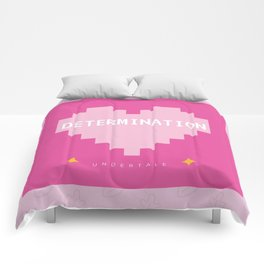Pink Kawaii Undertale Determination pixel heart Comforters