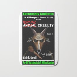 """Human Cruelty"" book cover art with signature Bath Mat"
