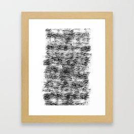 Black Pattern#4 Framed Art Print