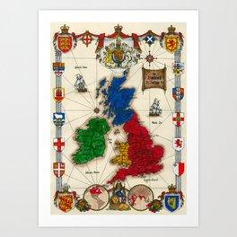 Map of the British Isles Art Print