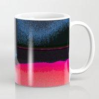 moon phase Mugs featuring New Moon - Phase III by Marina Kanavaki