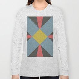 Blue gray Long Sleeve T-shirt