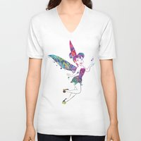 tinker bell V-neck T-shirts featuring Tinker Bell by Bitter Moon