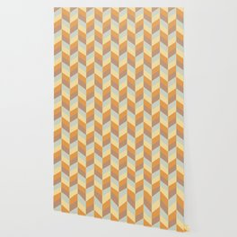 Striped colored chevron Wallpaper