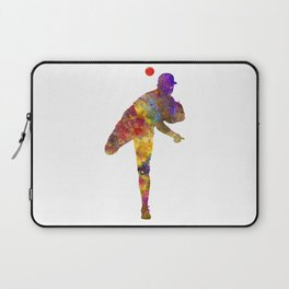 Baseball player throwing a ball Laptop Sleeve